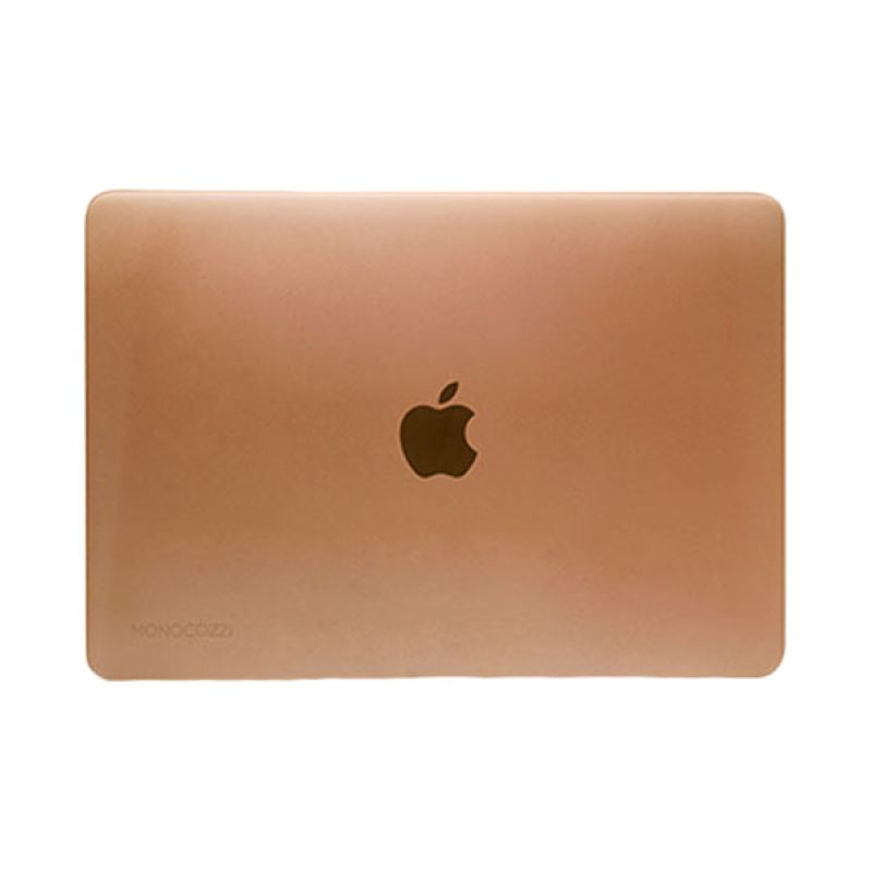 Monocozzi Lucid Transparant Hard Shell Glossy Champagne Casing for Macbook [12 Inch]