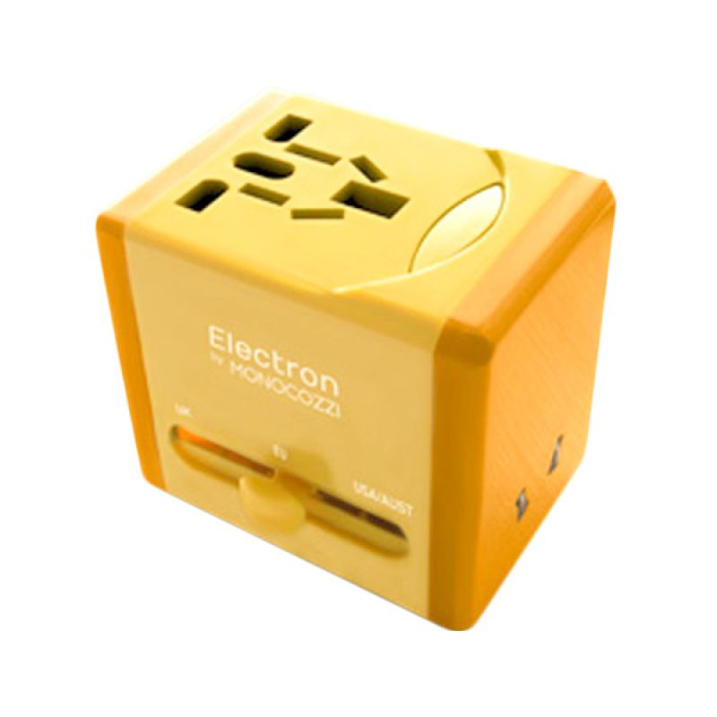 Monocozzi Smighty Global Dual USB Yellow Charger Adaptor [2.1 Amp]