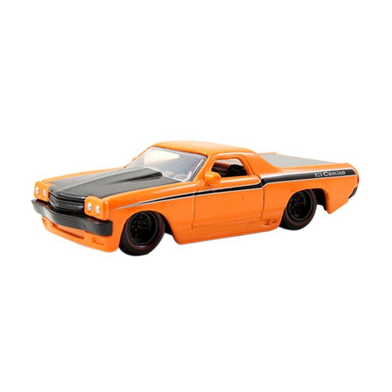 JADA Chevrolet EL Camin 1970 Orange with Black Hood Diecast [1:64]