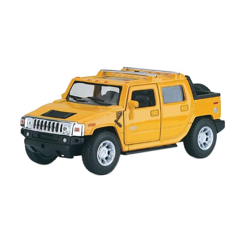 KINSMART 1/36 2005 Hummer H2 SUT Yellow Diecast