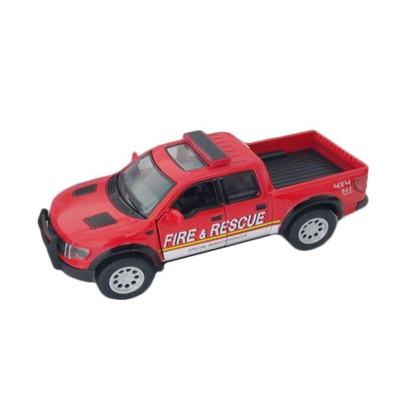 Kinsmart Ford F-150 SVT Raptor SuperCrew Red DieCast [Police/Fire Rescue]
