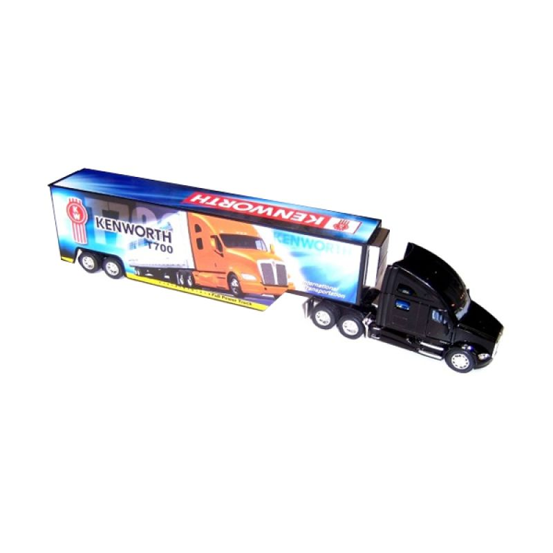 Kinsmart Kenworth T700 with Container Black Diecast [1:68]