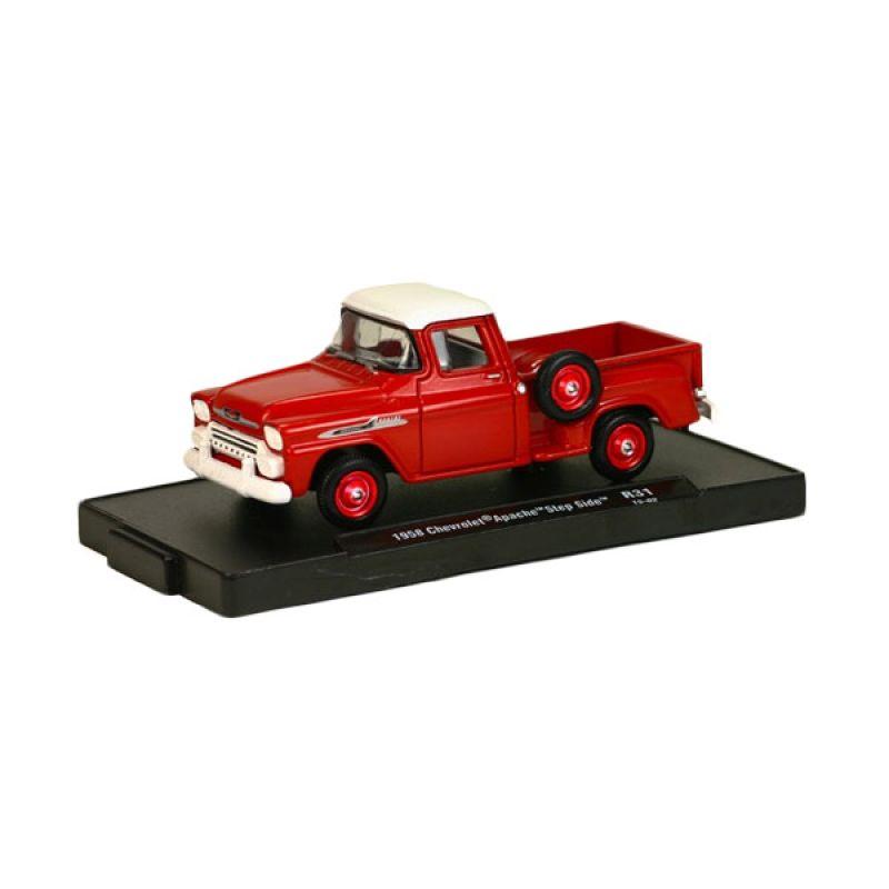 M2MACHINES Chevrolet Apache StepSide 1958 Red Diecast [1:64]