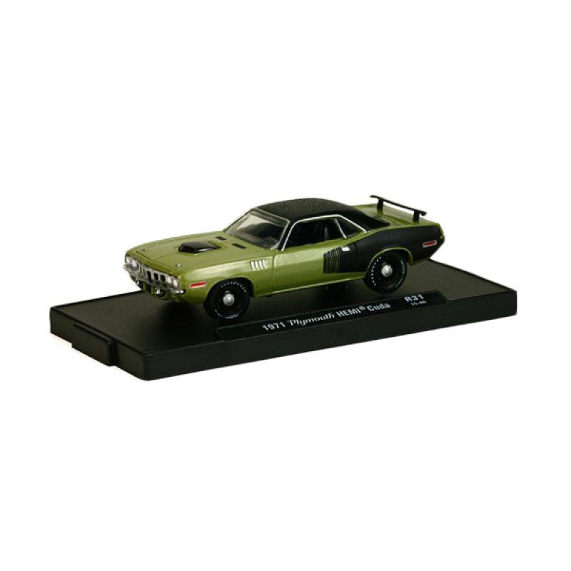 M2MACHINES Plymouth Hemicuda 1971 Green Diecast [1:64]