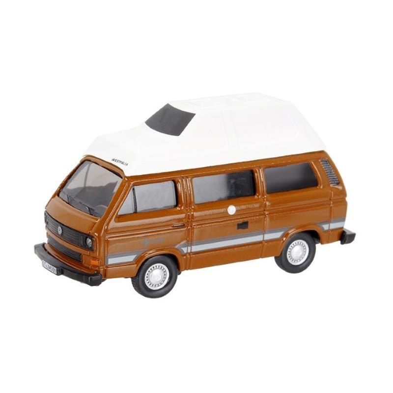 Maisto SCHUCO Volkswagen T3 Westfalia Camping Bus Brown Diecast