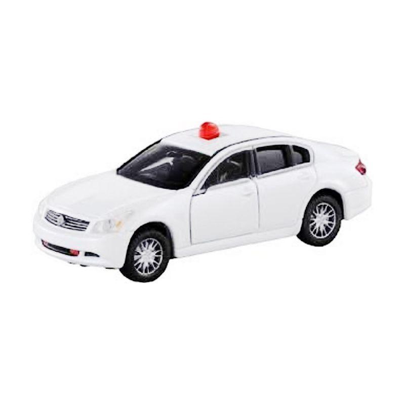 Tomica 132 Nissan Skyline Unmarked Police Car White Diecast