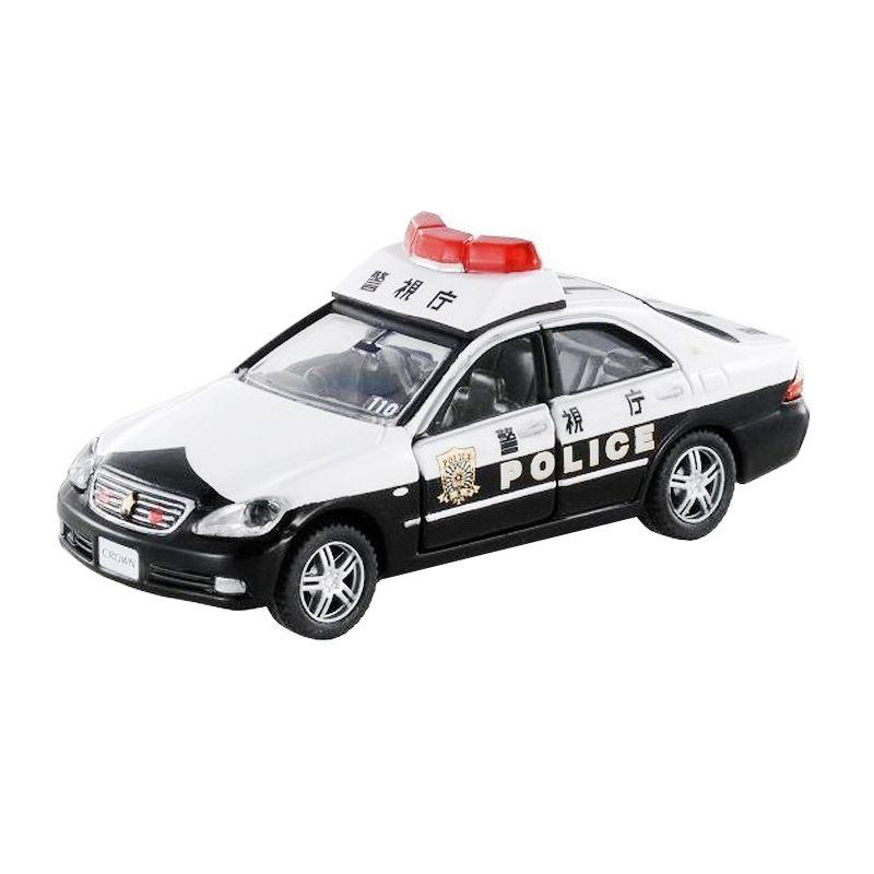 Tomica 154 Limited Toyota Crown Patrol Car Black White Diecast