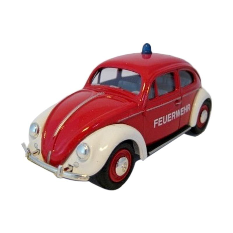 Welly Volkswagen Beetle Hard Top Feuerwehr Red White Diecast