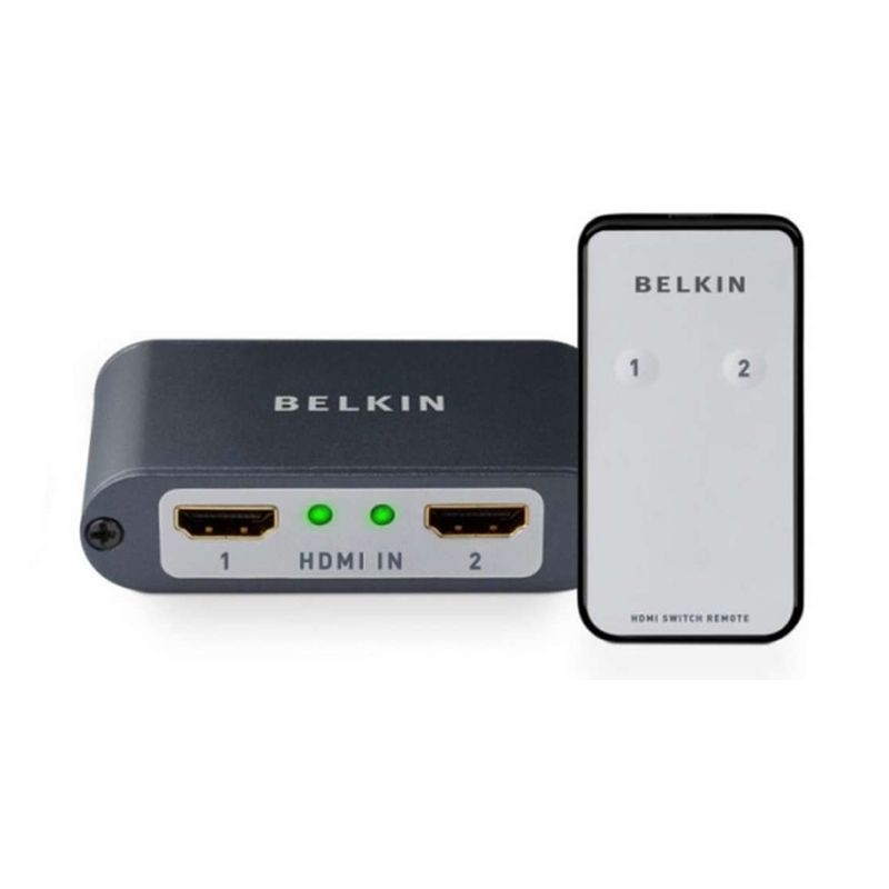 Belkin HDMI 2-to-1 Video Switch Hitam HDMI Connection