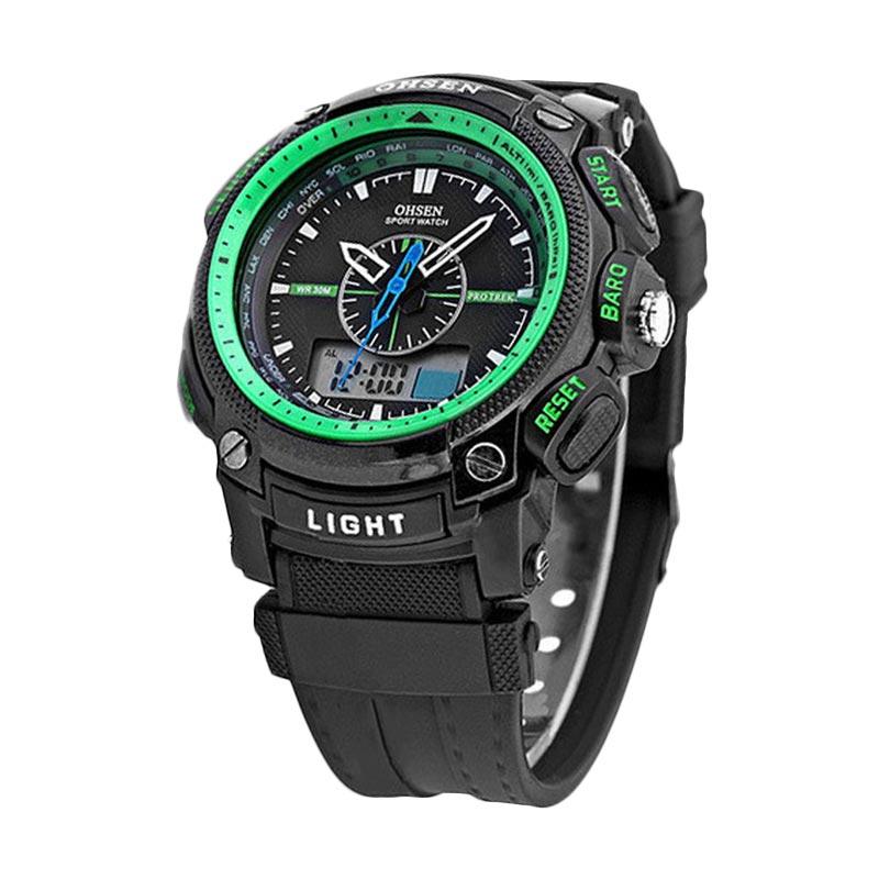 Harga Ohsen - Jam tangan Pria - Hitam - Strap Rubber - Digital Sport ... 15e6a94955