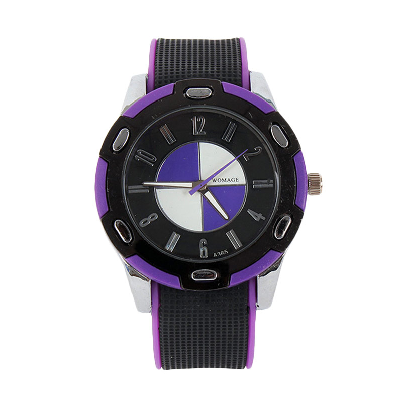 Ormano Bent-II Watch Jam Tangan Unisex - Hitam Ungu