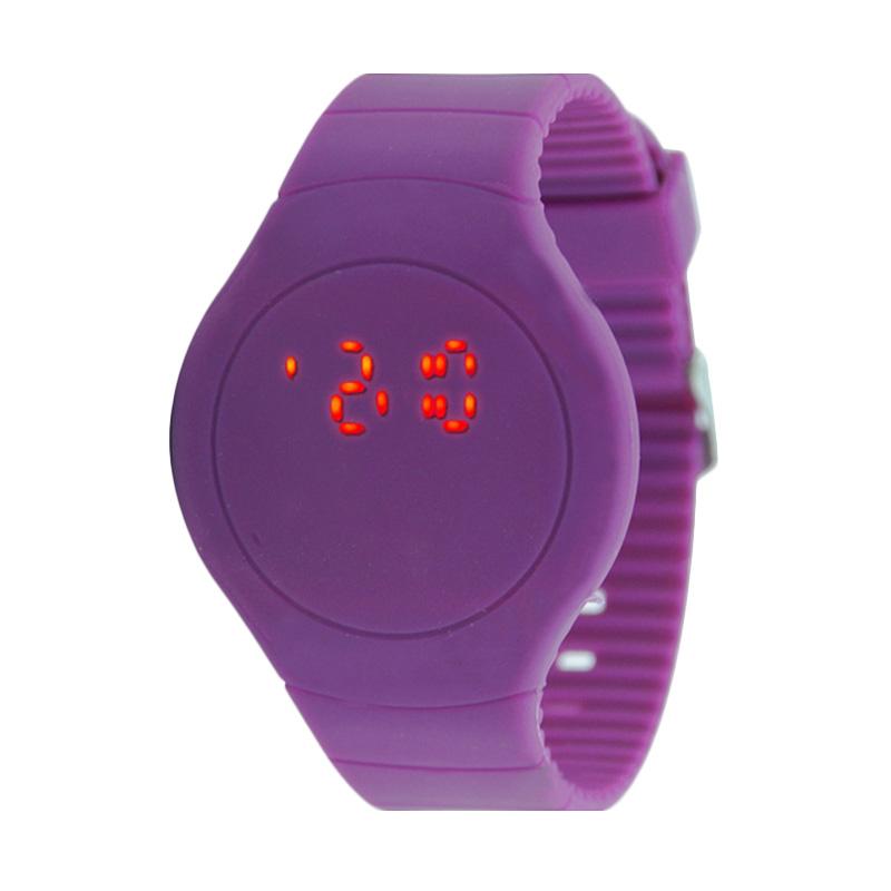 Ormano Circle Thin LED Watch Jam Tangan Wanita - Ungu