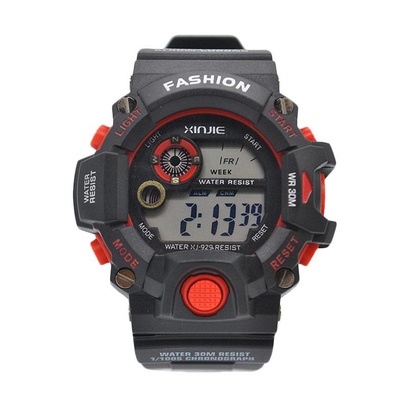 Ormano Digital XJ N-Watch Jam Tangan Pria - Hitam Merah