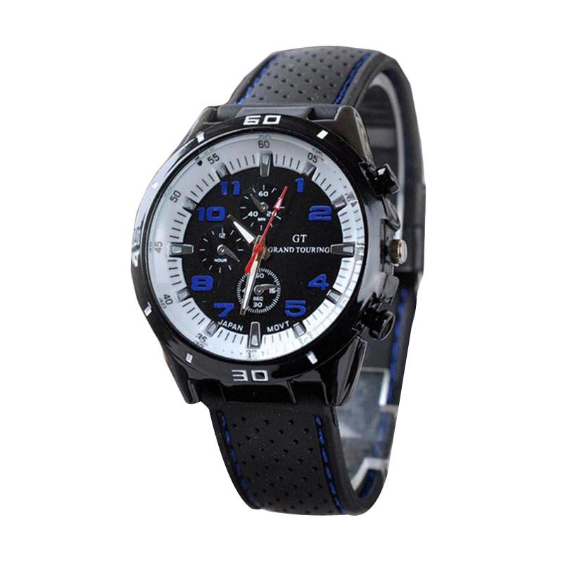 Ormano GT Grand Touring Watch Jam Tangan Pria - Hitam Putih Biru