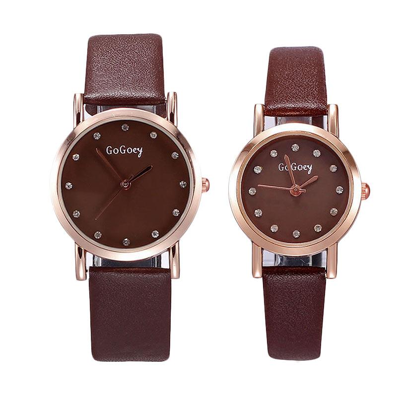 Ormano Lucia Simple Watch Jam Tangan Couple - Coklat