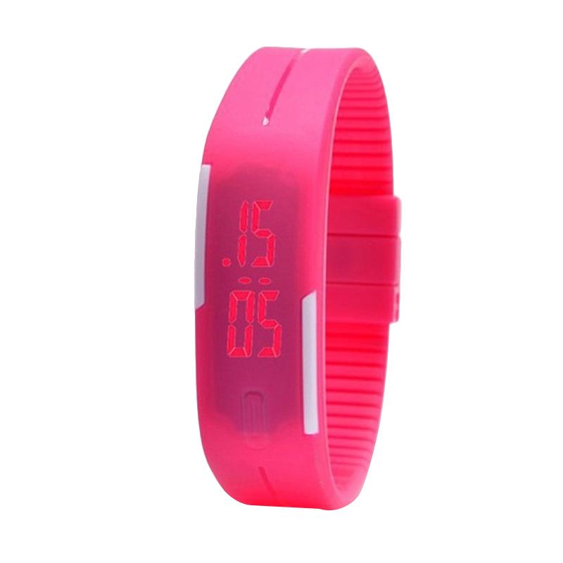 Ormano Teiton LED Sport Minimalis Jam Tangan - Pink