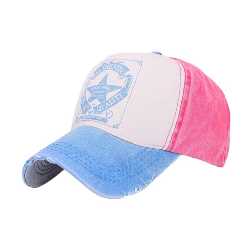 harga Ormano Topi Baseball Cap Perfect Service Snapback - Merah Biru Muda Blibli.com