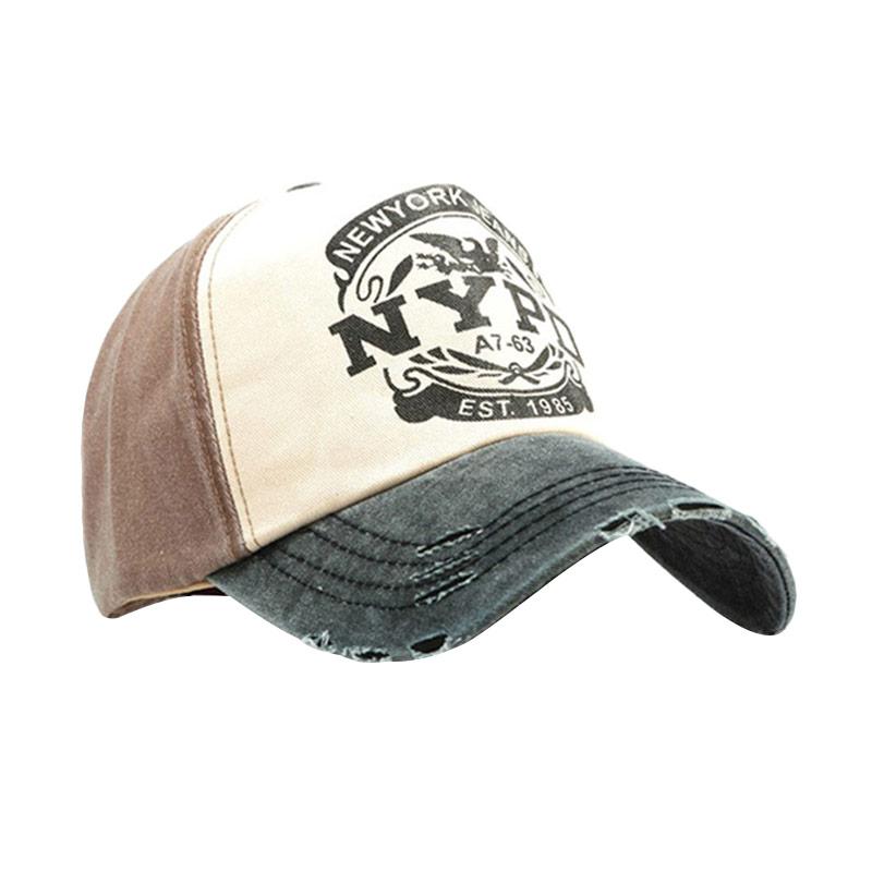 Jual Ormano Topi Baseball Snapback Hip Hop NYPD Cap - Coklat Online - Harga    Kualitas Terjamin  4796262cb0