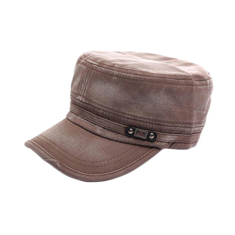 Ormano Topi Baseball Snapback Korean Style FS Cap - Coklat Muda