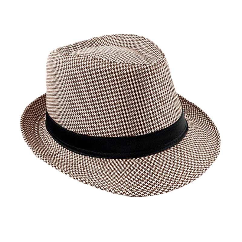 Ormano Topi Tompi Cowboy Pattern Fedora - Coklat Muda ...