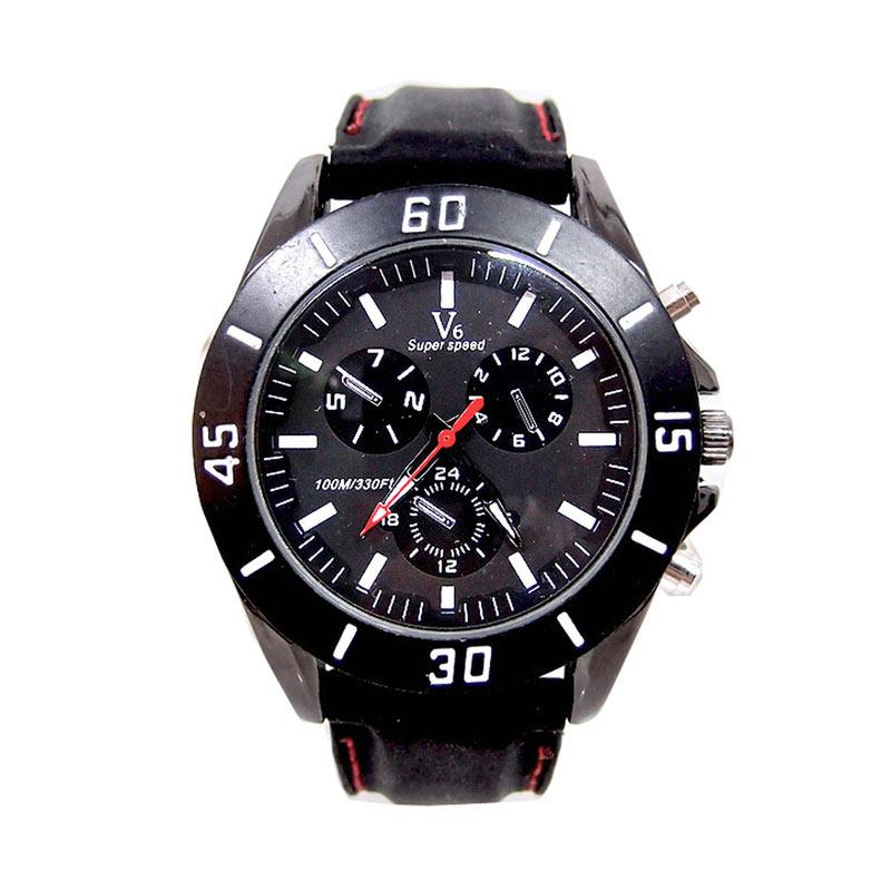 Ormano V6 Fashion Watch Jam Tangan Pria - Hitam