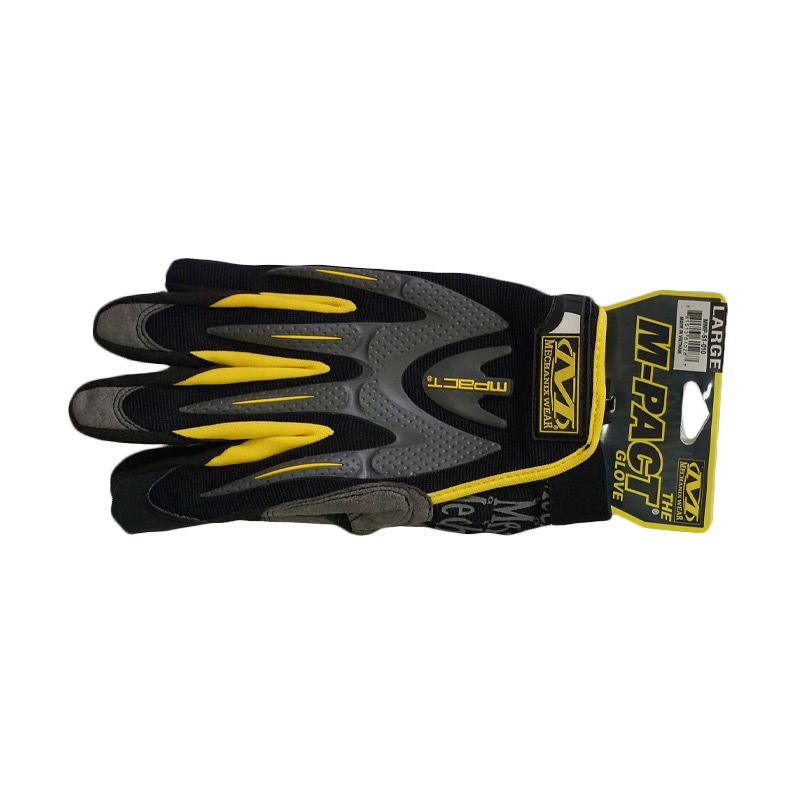 Mechanix Wear Mpact 2009 Black Yellow Gloves Sarung Tangan [Size L]