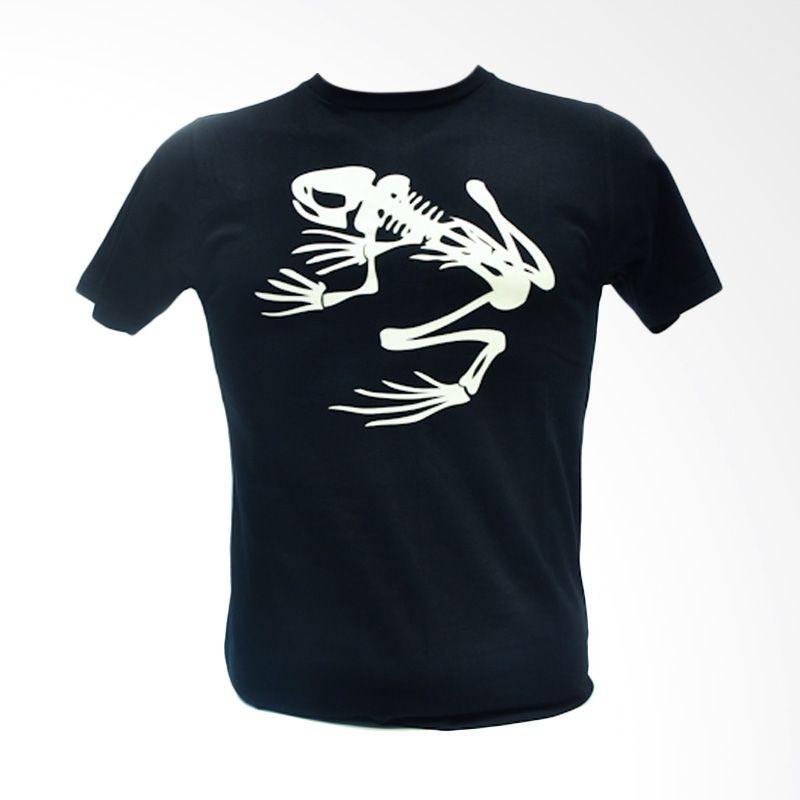 Oscar Mike Skull Frog 20s Black Kaos Pria [Size M]