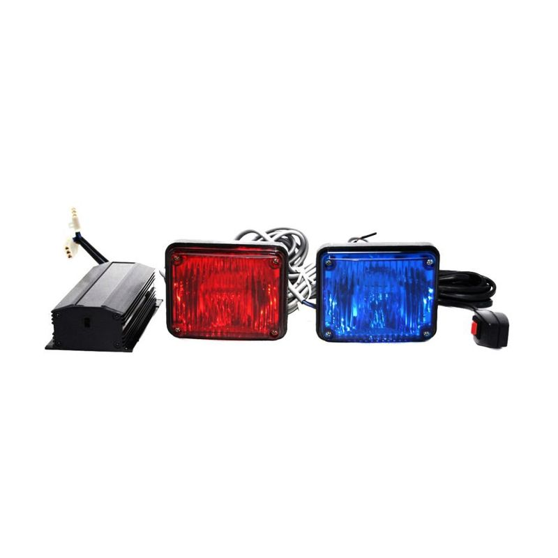 OTOmobil AI-LTE816 Biru Merah Set Lampu Grill Mobil