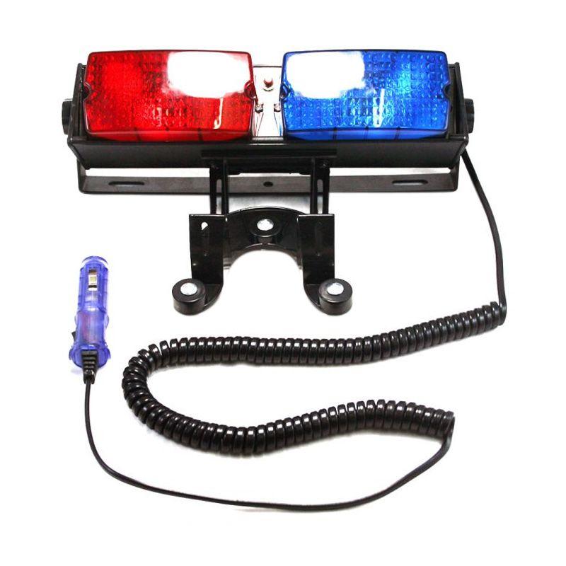 OTOmobil AI-LTE819 Biru Merah Lampu Tempel Kaca Mobil