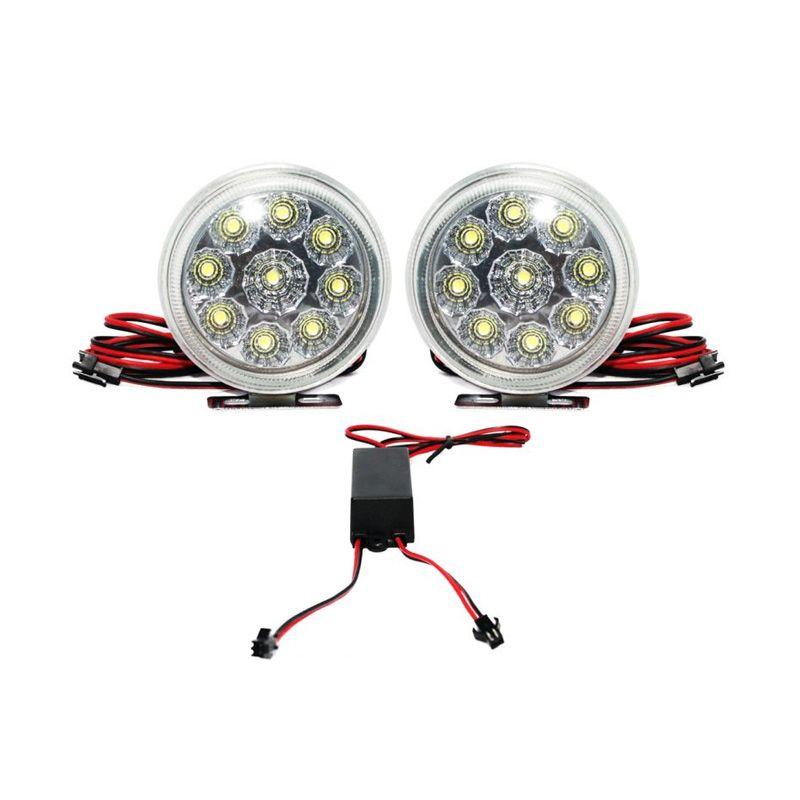 OTOmobil AI-TL106B Daytime Running Light DRL Bulat Putih Lampu mobil [Kecil]
