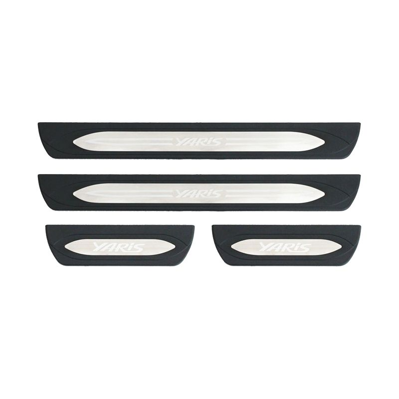 Otoproject Door Sill Plate with Lamp Original for All New Yaris 2014