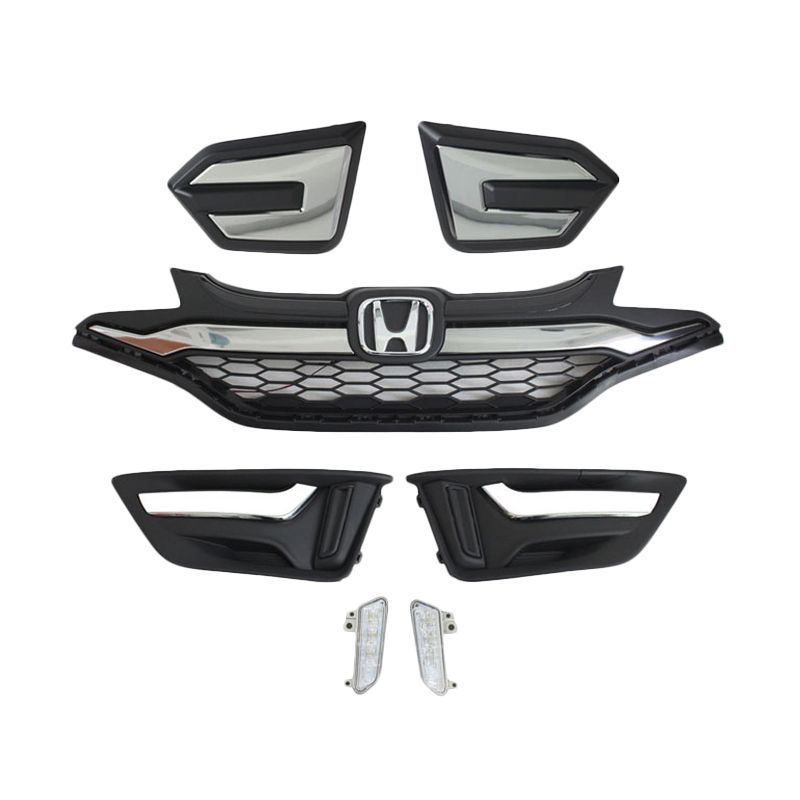 Otoproject Paket Grill + Garnish + DRL untuk Honda All NewJazz 2014