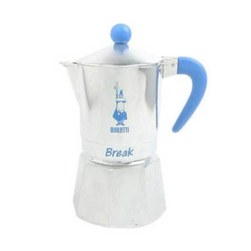 Bialetti Break Light Blue Coffee Maker [1 Cup]