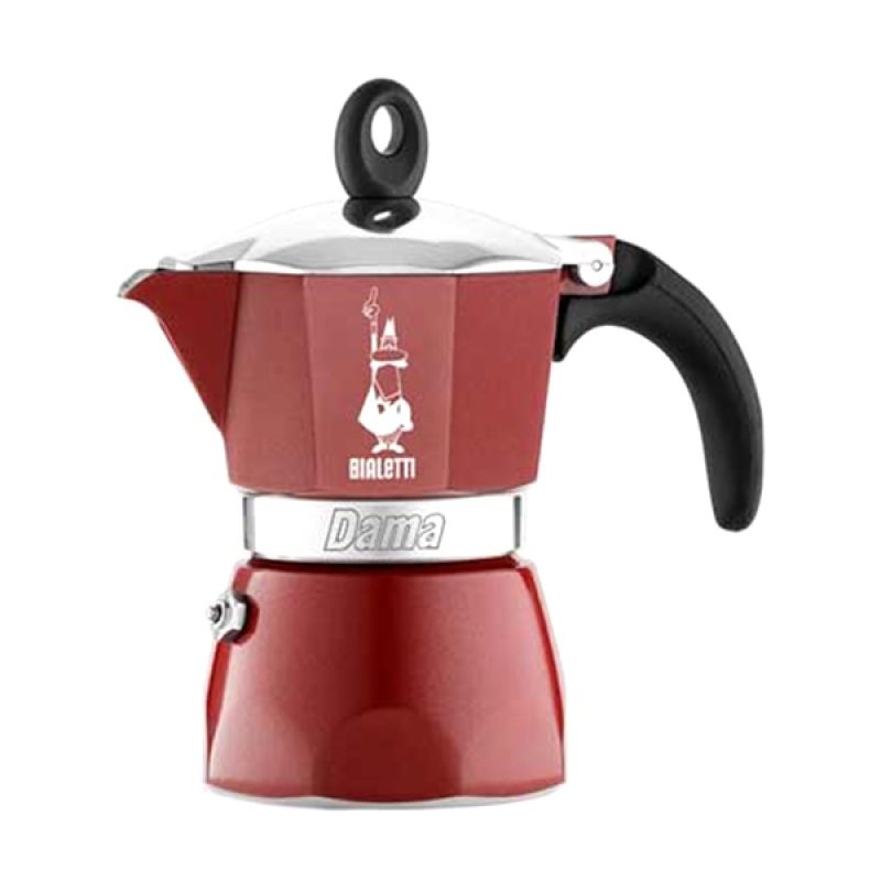 Bialetti Dama Glamour Bordeaux Coffee Maker [3 Cups]
