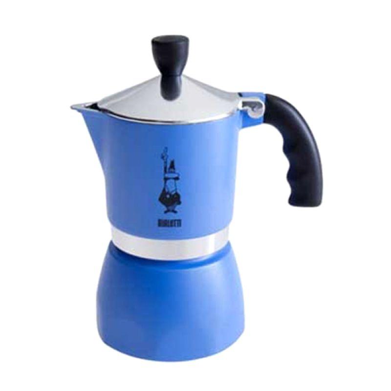 Bialetti Fiammetta Azzurra Coffee Maker [3 Cups]
