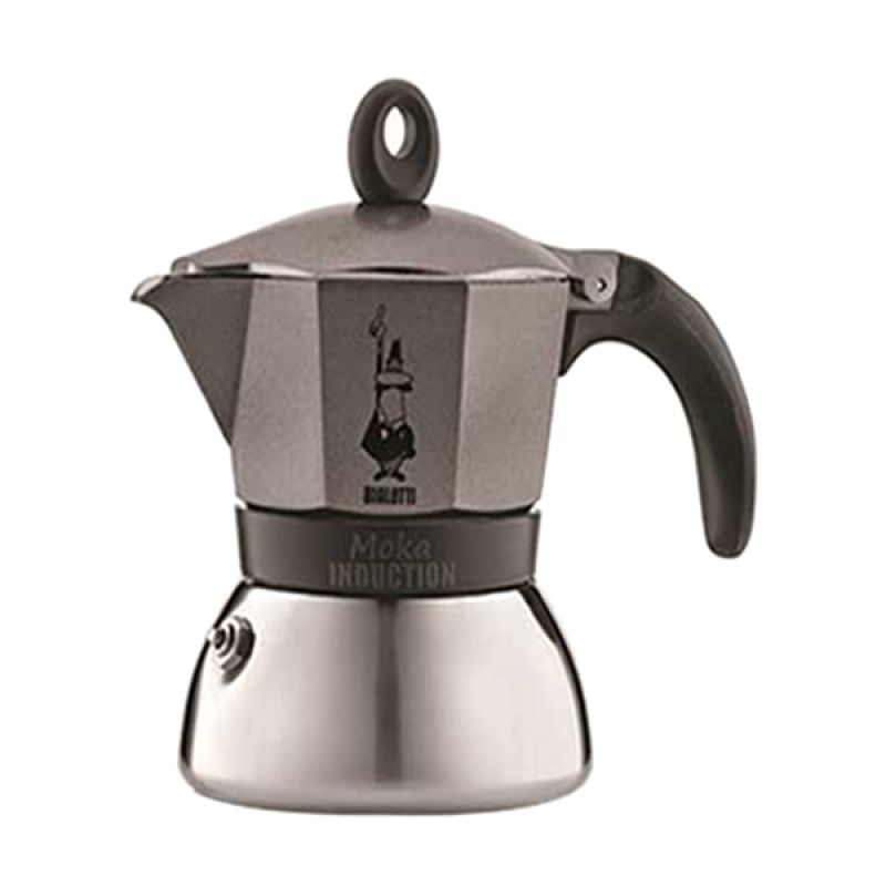 Bialetti Moka Induction Anthracite Espresso Coffee Maker [6 Cups]