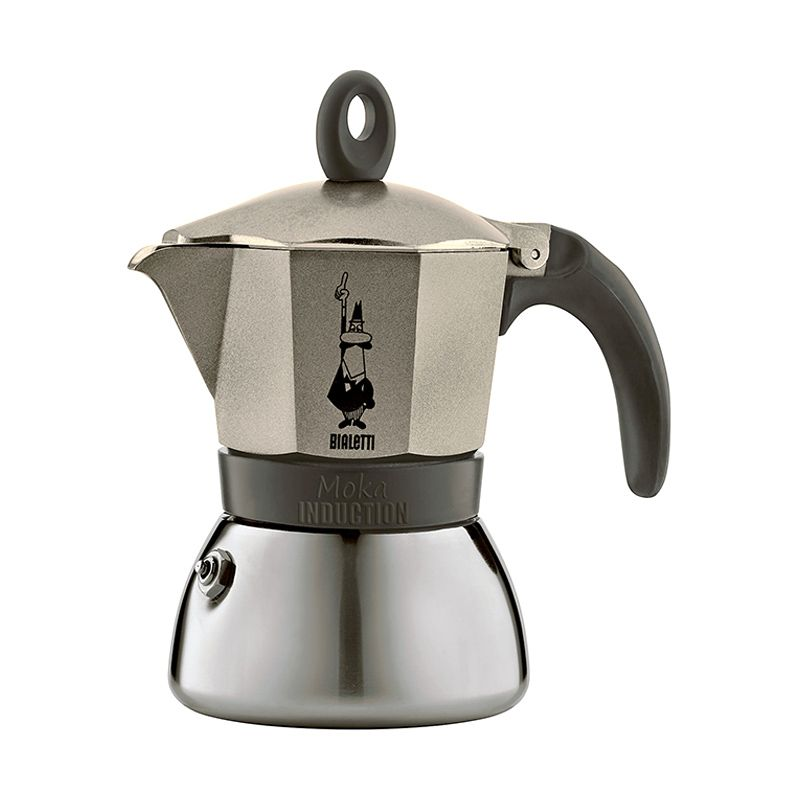Bialetti Moka Induction Light Gold Coffee Maker [6 Cups]
