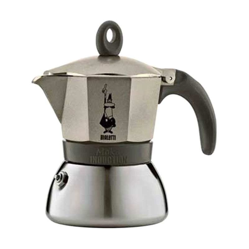 Bialetti Moka Induction Light Gold Espresso Coffee Maker [3 Cups]