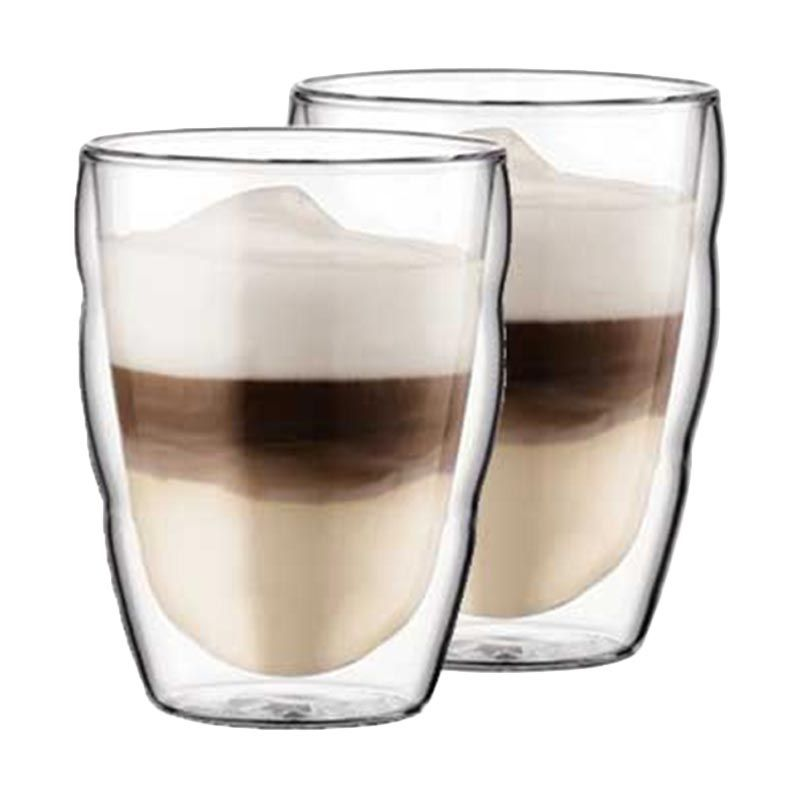 Bodum 10484-10 Pilatus Double Wall Gelas [2 Pcs/250 mL]