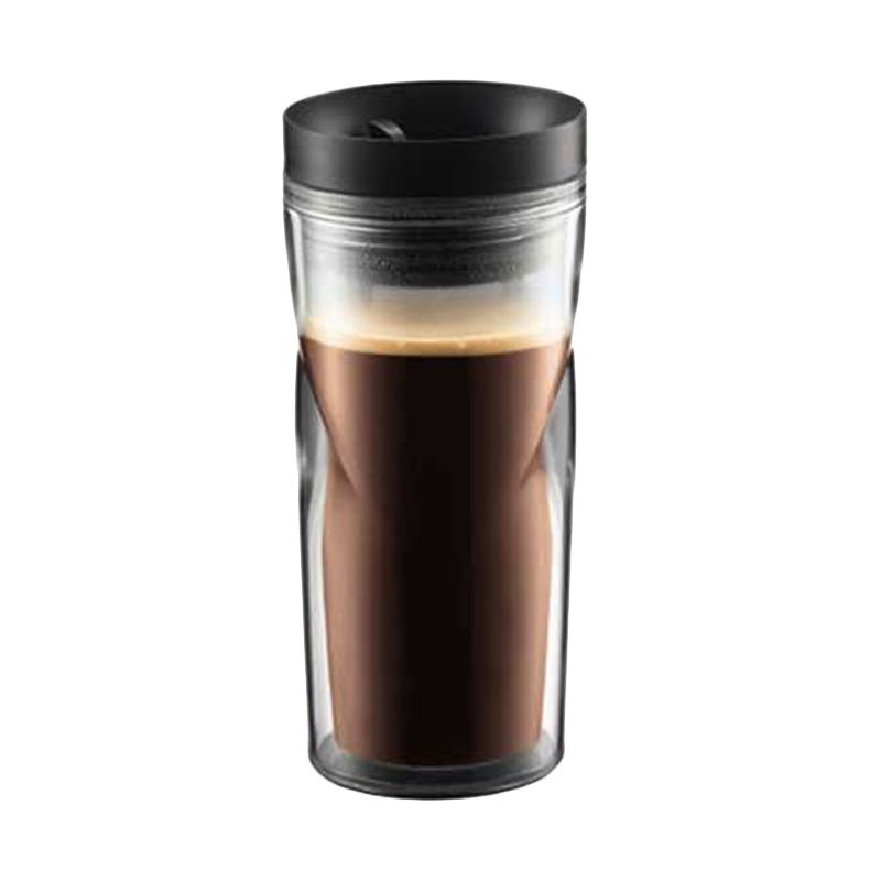 Bodum 11041-01 Black Travel Mug Glass [350 mL]