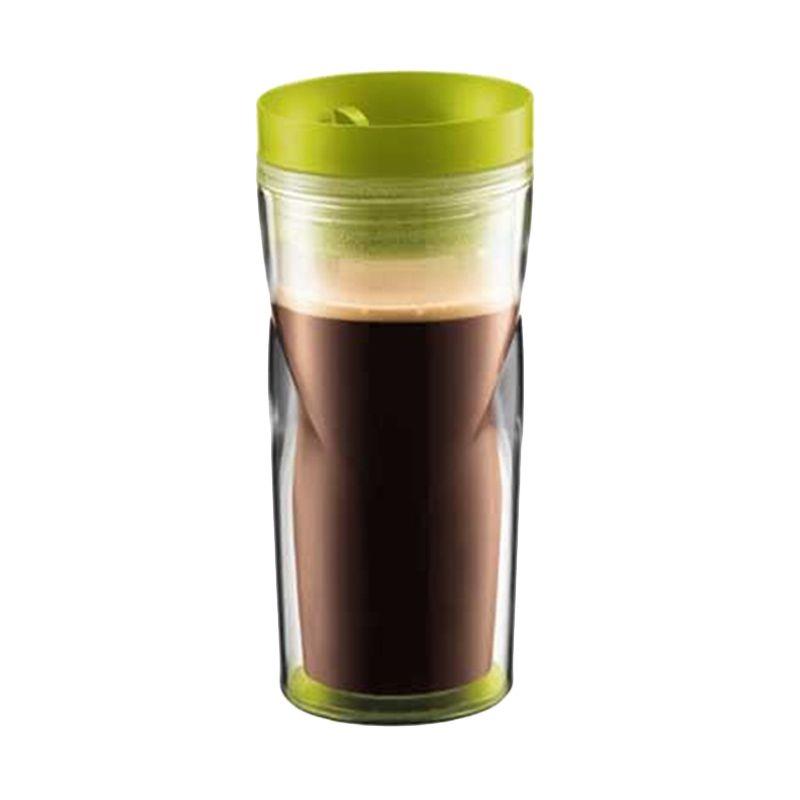 Bodum 11041-565 Green Travel Mug Glass [350 mL]