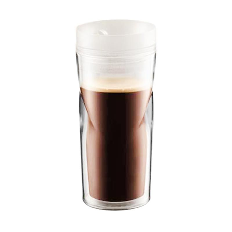 Bodum 11041-913 White Travel Mug Glass [350 mL]
