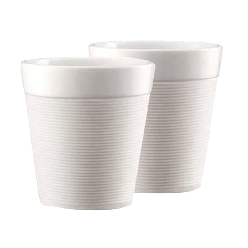 Bodum Bistro 11581-913 White Mug [170 mL/2 Pcs]
