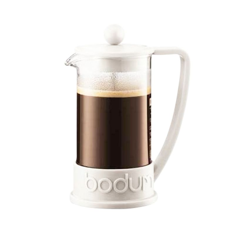 Bodum Brazil 10948-913 White French Press Perlengkapan Minum Kopi [350 mL]