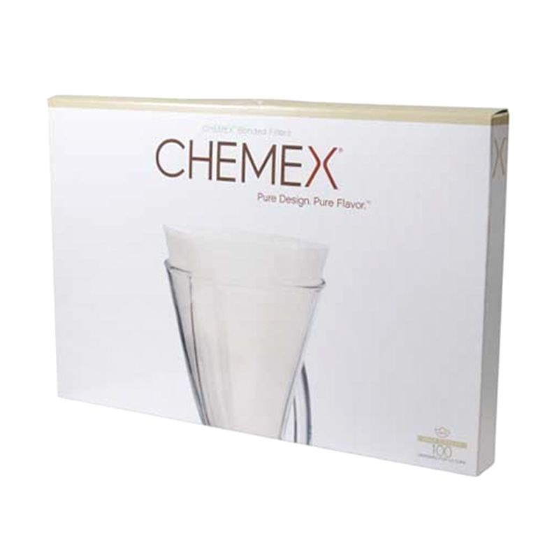 Chemex Bonded Filters Unfolded Half Moon FP-2 [100 Pcs]