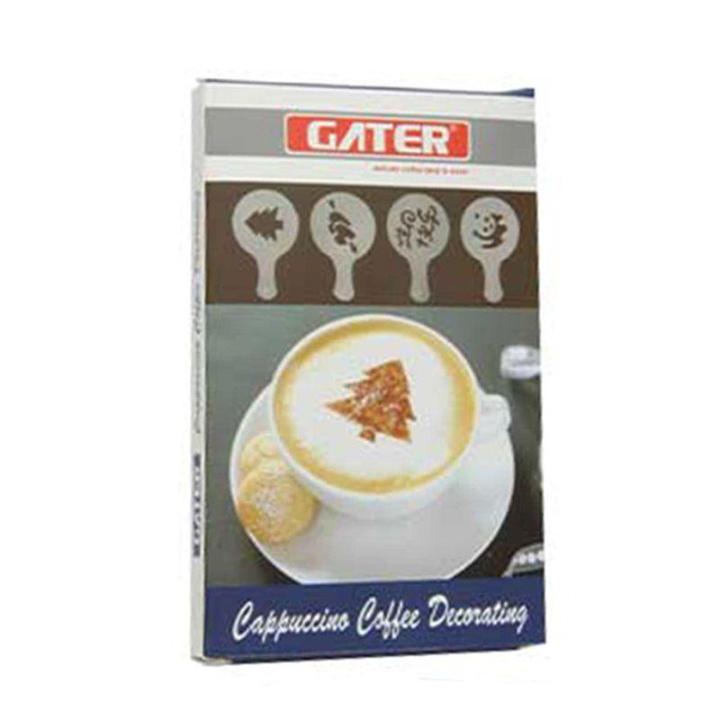 Gater Plastic Coffee Stencil Alat Dekorasi Kopi