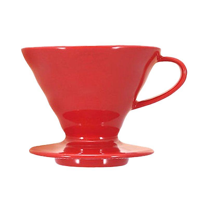Hario Dripper V60 Ceramic VDC-02R Merah