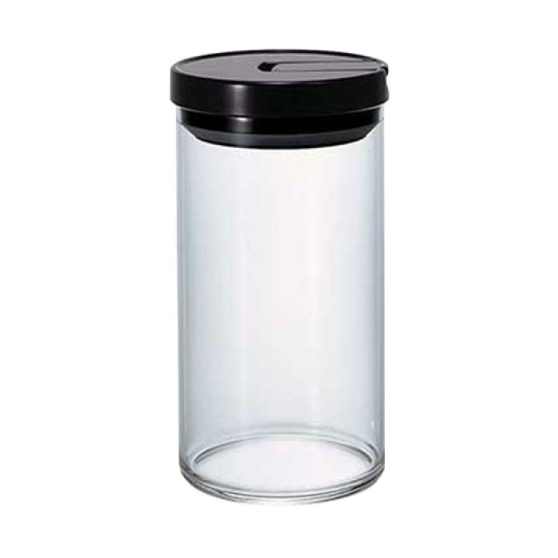 Hario Glass Canister MCN-300B Black Tempat Penyimpanan Kopi [1 L]