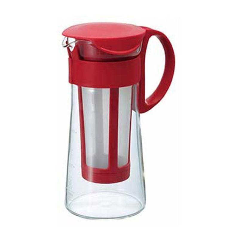Hario Mizudashi Coffee Pot Mini MCPN-7R Red Filter Penyaring Kopi [600 mL]