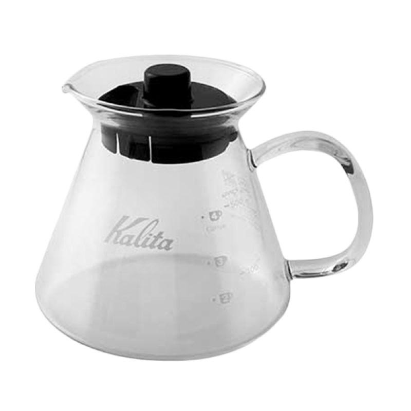 Kalita Hitam Glass Coffee Server Teko [500 mL]